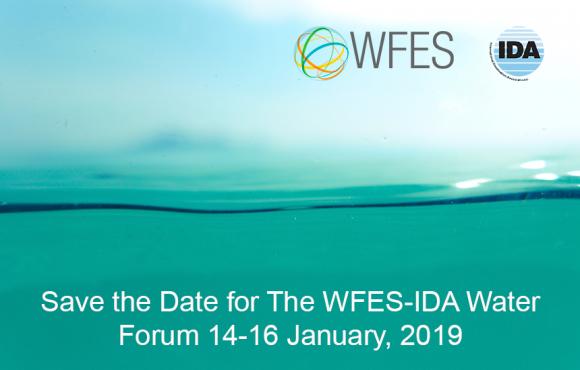 IDA Co-Organizes WFES Water Forum – Jan 14-16, 2019